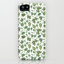 Summer Leaves Pattern iPhone Case