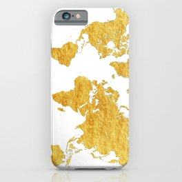 World Map Gold Vintage iPhone Case