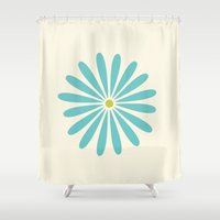 daisy Shower Curtains featuring Daisy by Amy Newhouse