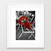 cafe Framed Art Prints featuring Cafe by ChandalC
