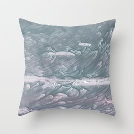 Light slate gray stained watercolor Throw Pillow
