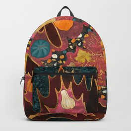 Abstract Halloween Harvest Backpack