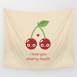 I Love You Cherry Much Wall Tapestry
