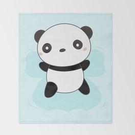 Kawaii Panda Snow Angel Throw Blanket
