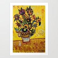 My Sun Flowers Art Print