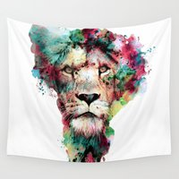 king Wall Tapestries featuring THE KING by RIZA PEKER