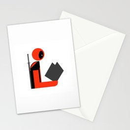 Dead Gentleman Reads Stationery Cards