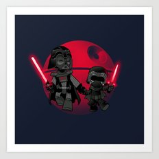 Darth Grandpa Art Print