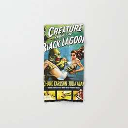 Creature from the Black Lagoon, vintage horror movie poster Hand & Bath Towel