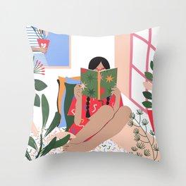 Plant Girl #2 Throw Pillow
