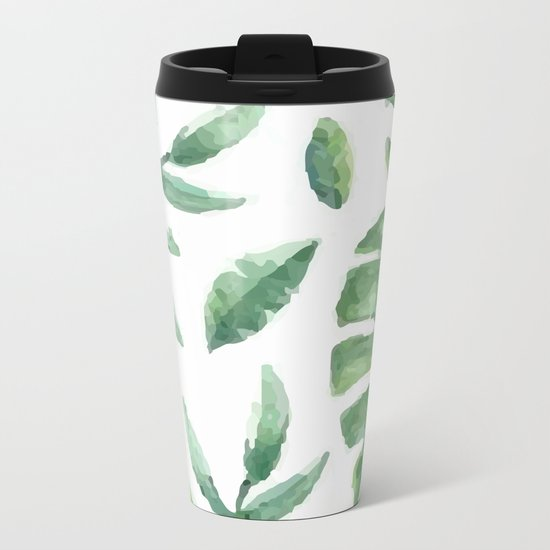 Leaf background Metal Travel Mug