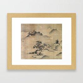 Kano Chikanobu Landscape Framed Art Print