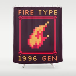 Fire Type Shower Curtain