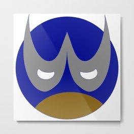 W Emoji Superhero Metal Print
