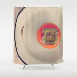Persimmon in a Bowl Shower Curtain