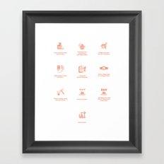 Design Commandments (all) Framed Art Print