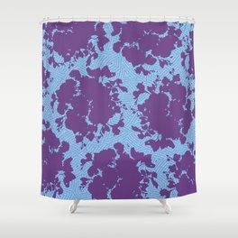 bouquet silhouette on light blue Shower Curtain