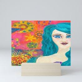 Geometric Danielia, Oh Mermaids Mini Art Print
