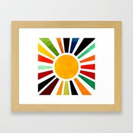 Sun Retro Art Framed Art Print