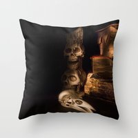 fullmetal alchemist Throw Pillows featuring The Alchemist by Ann Garrett