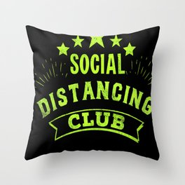 Social Distancing Club  Virus socialist Throw Pillow