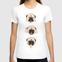 evil T-shirts featuring No Evil Pug  by Huebucket