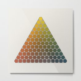 Lichtenberg-Mayer Colour Triangle vintage remake, based on Mayers' original idea and illustration Metal Print