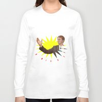 dwight schrute Long Sleeve T-shirts featuring Dwight Schrute  |  The Office by Silvio Ledbetter