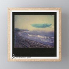 Aerial Daydreaming; zeppelin Framed Mini Art Print