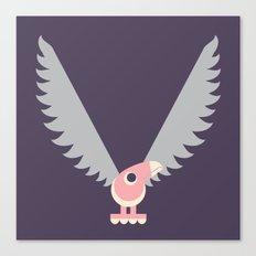 Letter V // Animal Alphabet // Vulture Canvas Print