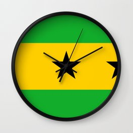 Sao Tome And Principe Flag Wall Clock