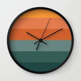 nature colour palette Wall Clock
