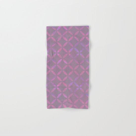 Round Pink Grey Pattern Hand & Bath Towel