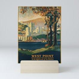 retro West Point Mini Art Print