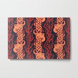Warm Octopus Reef Metal Print