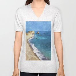 Birth Place Of Venus Aphrodite Rocks Cyprus Unisex V-Neck