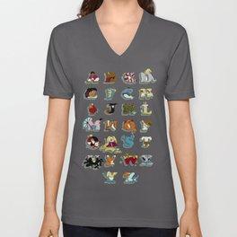 The Disney Alphabet Unisex V-Neck