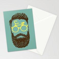 Hipster Biker Stationery Cards