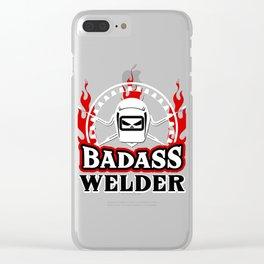 Badass Welder Clear iPhone Case