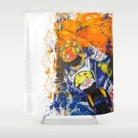 moto Shower Curtains featuring Moto Splash by Joshua Meno