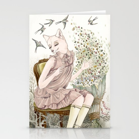 Enchanted Fox Stationery Cards