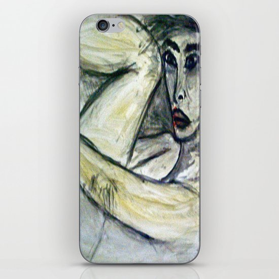 NUDE IN DEEP THOUGHTS version 2 iPhone & iPod Skin