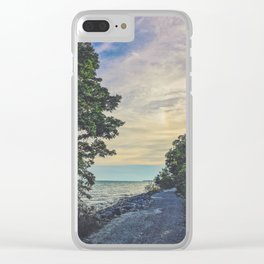 Road by the water Clear iPhone Case