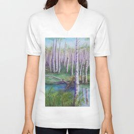 Crossing the Swamp WC151101-12 Unisex V-Neck