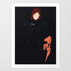 Mass Effect - Female Shepard Art Print