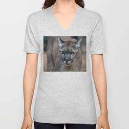 Mountain Lion Unisex V-Neck