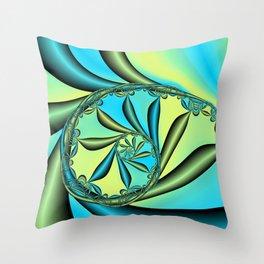River Vine Fractal Throw Pillow