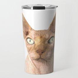 Sphynx cat portrait Travel Mug