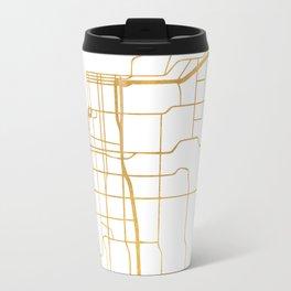 ANCHORAGE ALASKA CITY STREET MAP ART Travel Mug