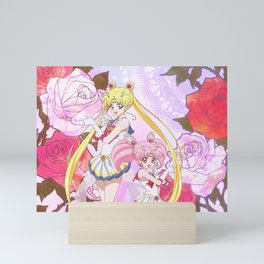 Sailor Moon & Chibimoon Crystal IV Mini Art Print
